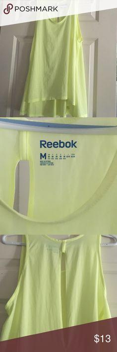 Reebok high low flow open back top Reebok high low very flowing open back slit top Reebok Tops Tank Tops