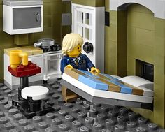 Parisian Rest. Lego 2014 - Imgur Murphy Bed and kitchen.  Go to the website to see this amazing house!