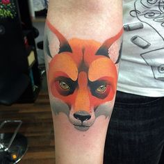 Giena Todryk #taktoboli #gienatodryk #amazingtattoo #tattoo #inked #ink #todryktattoo #todriktattoo #fox #lis #color #kolor