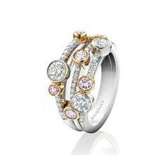 Boodles Limited Edition Waterfall Ring  ~ pink and white diamonds ~ Beautiful