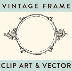 Royalty Free Image - Vintage Scroll Frame | Oh So Nifty Vintage Graphics