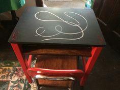 1950's Restored Chalkboard Desk