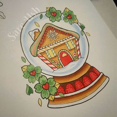 【sareush】さんのInstagramをピンしています。 《Available Sareushart@gmail.com to book :) #snowglobe #snowglobetattoo #gingerbread #house #gingerbreadhouse #cute #cherryblossoms #christmas #tattoo #tattoodesign #tattooflash #illustration #tattooflashed #ladytattooers #rockupink》