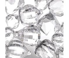 Clear Gem Scatter ... tying these to clear line / fishing line and hanging them will give a lovely effect