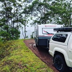 First shakedown run with the van on the back.  For a road that doesn't allow caravans, the Sunseeker and Amarok never missed a beat.…