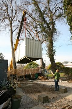 Guiding a container through the trees