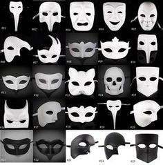DIY Unpainted Mardi Gras Venetian Black & White Blank Masquerade Mask… The Effective Pictures We Offer You About diy carnival food A quality picture can tell you many things. You can find the most bea Venetian Masquerade Masks, Masquerade Party, Masquerade Costumes, Black Masquerade Mask, Mascarilla Diy, Karneval Diy, Mascarade Mask, Diy Carnival, Carnival Food