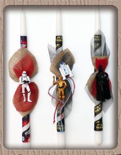 Λαμπάδες Star Wars Palm Sunday, Star Wars, Comic, Candles, Christmas Ornaments, Stars, Holiday Decor, Home Decor, Decoration Home