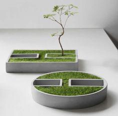 Handmade-Modern Concrete Desktop Plant Pot / Flower Pot #handmadehomedecor