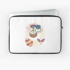 'Tropical Floral design' Laptop Sleeve by