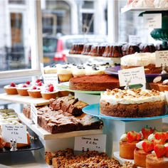 Ottolenghi's cakes in Belgravia, London