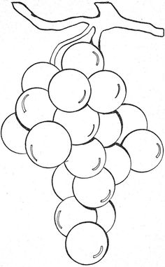 Things To Color-grapes Farm Animal Coloring Pages, Colouring Pages, Coloring Pages For Kids, Coloring Books, Embroidery Patterns, Hand Embroidery, Cross Stitch Patterns, Drawing For Kids, Art For Kids