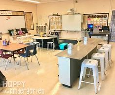 Happy Little Kindergarten Flexible Seating for First Grade Classroom setup Middle School Classroom, First Grade Classroom, New Classroom, Classroom Setting, Classroom Setup, Classroom Design, Kindergarten Classroom, Classroom Organization, Classroom Flexible Seating