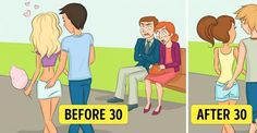 Funny Illustrations Depict What Life Looks Like Before And After You Turn 30
