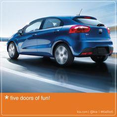 #KiaRio5 = Five doors of fun!