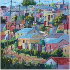 Township Patterns oil painting by Malcolm Dewey