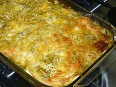 Green enchilada casserole