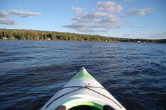Kayaking on Back Lake, Pittsburg, NH