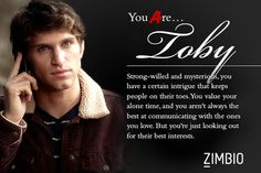 I took Zimbio's 'Pretty Little Liars' personality quiz and I'm Toby ! Who are you? #ZimbioQuiz