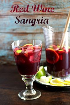 Red Wine Sangria - An easy and delicious recipe for the fruity classic sangria. A refreshing drink to enjoy during the warm weather months. Sweet Red Wines, Best Sangria Recipe, Red Sangria Recipes, Simple Sangria Recipe, Wine Recipes, Homemade Sangria, Fruity Drinks, Refreshing Drinks, Fun Drinks