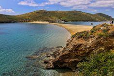 ☼ Grecia Greece ☼ Cyclades Island Kythnos kolona Beach & St Lucas Island, Kythnos, Greece