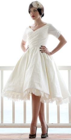 Dolly Couture tea length dress. Adore. www.theknot.com.