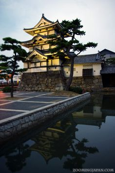 Takamatsu Castle (Shikoku) at night.