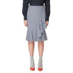 This skirt from our exclusive Studio By Preen range combines everyday cool with a chic bold style. Cut to a flattering knee length, it offers a layered design with contemporary frilled detailing and a distinctive gingham print.