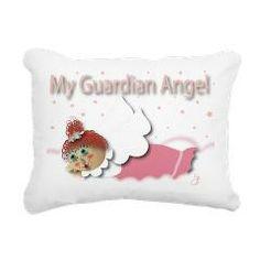 Raggedy Isabella Guardia Rectangular Canvas Pillow> Raggedy Isabella> Angelic Inspirations  J.L. Designs