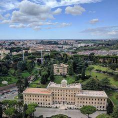 #topofthedome #vatican #cloudporn #traveltheworld #travelphotography #hubbyandwifey #couplegoals #rome #italy #italia #europe #eurotrip #europe2016 #vacation #tourist #tourism #iphone6s #nexus6p