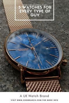 UK Watch brand Crownarch, claims to have at least one watch in their collection that will appeal to EVERY type of guy. From the watch for special occasions to the watch needed for day-to-day wear.