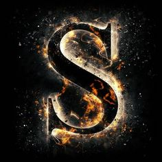 Fire letter S vector illustration s harfi Fire letter S stock illustration. S Letter Images, Alphabet Letters Images, S Alphabet, Alphabet Wallpaper, Print Wallpaper, Galaxy Wallpaper, Monogram Wallpaper, Cool Lettering, Lettering Design
