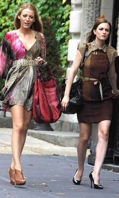 Blake Lively And Leighton Meester Play Gossip Girl Best Friends Blair And Serena Shopping, 2010