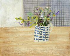 Meadow Flowers in the Studio by Elaine Pamphilon   Mixed media on wooden panel   40 x 50 cm #elainepamphilon #tannerandlawson #stilllife