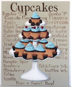 Catherine Holman Folk Art: Cupcake Painting Makeover