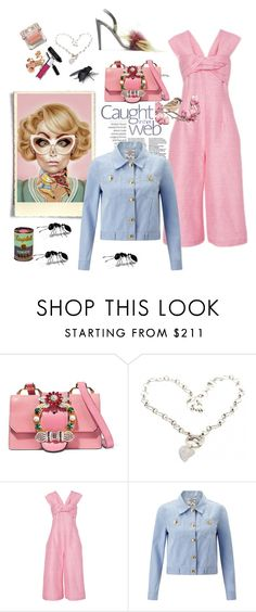 """Excuse me?! There is a fly in my soup!"" by juliabachmann ❤ liked on Polyvore featuring Miu Miu, Christian Dior, Paper London and Baum und Pferdgarten"