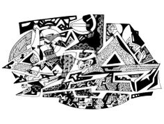 Francois Pretorius - (The Luxury of) Time to Contemplate (2014) #art #illustration #b&w #design #africa #fineart