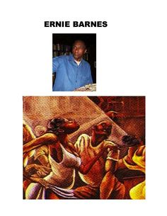 """Ernest """"Ernie"""" Eugene Barnes, Jr. was an African-American painter, well known for his unique style of elongation and movement. He was also a professional football player, actor and author."""