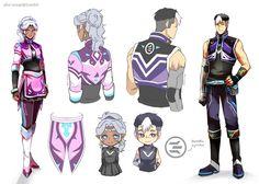 Refs for aku-usagi's Voltron alt  jackets - Allura and Shiro