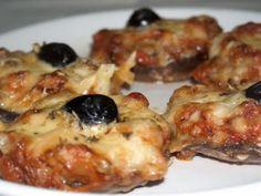 Receita Prato Principal : Cogumelos recheados com tomate seco, manjericão e mozzarela de Paobolosecia