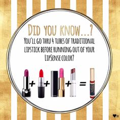 1 Lipsense = 4 Lipsticks!  Email me to order: chargersfam4@hotmail.com