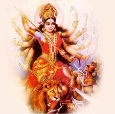 Durga, also called Divine Mother, protects mankind from evil and misery by destroying evil forces such as selfishness, jealousy, prejudice, hatred, anger, and ego.