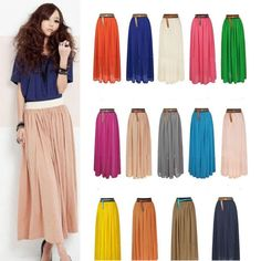 Double Layer Chiffon Skirt, variety of colors for select