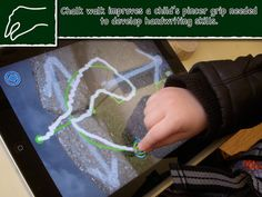 Chalk Walk for the IPAD is an interactive app for toddlers and pre-schoolers that develops their thumb-finger pincer grip skill needed for school. Motor Skills Activities, Fine Motor Skills, Early Learning, Kids Learning, Walk Free, App Of The Day, Pre Writing, Early Literacy, Drawing Skills