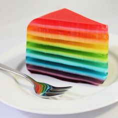 Rainbow jelly cake!!! Want one email me!!