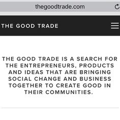 One of my most favourite #companies out there! @thegoodtrade is chalk full of interesting articles useful guides and everything #lifestyle related. This is heart in action. @thegoodtrade is an invite to all of us to #loveoutloudeveryday and #liveoutloudeveryday through the choices we make the actions we take and the love we give. Check 'em out!  #socialentrepreneur #socent #design #designthinking #business #life #education #lifestyle #wellness #changemakers