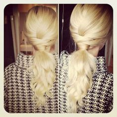 Fashion low tied #hairstyle