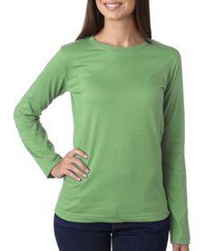 LA T Ladies' Long-Sleeve T-Shirt 3588 Grass