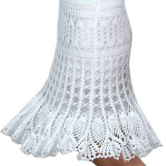 Gorgeous crocheted pineapple skirt.  I imagine putting a silk or satin lining of color under it.
