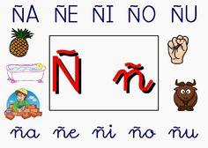 Maestr@s de infantil: CONSONANTES Pre School, Playing Cards, Comics, Nyan Nyan, Cha Cha, Preschool Letters, Preschool Writing, Vocabulary, Letter N